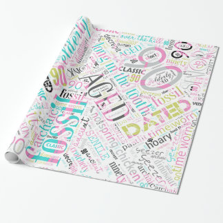 Birthday Word Cloud Ninety Pink ID266