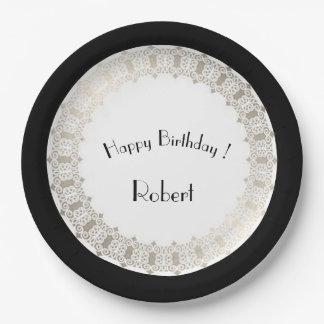 Birthdays-Celebrations_Silver-Medieval_Shield_ Paper Plate