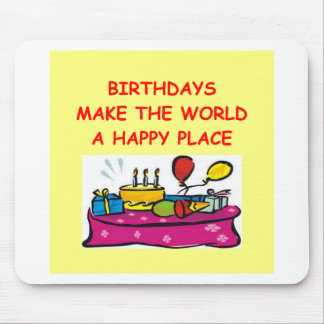 birthdays mouse pad
