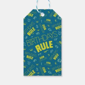 Birthdays Rule Gift Tags