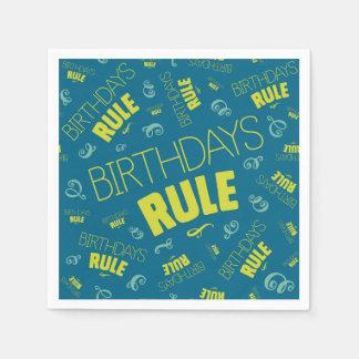 Birthdays Rule Paper Napkin