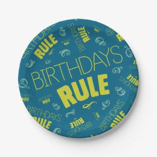 Birthdays Rule Paper Plate