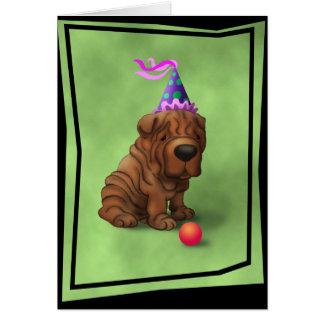 BirthdaySharpeiA Card