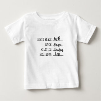 Birthplace Earth Human Freedom Love Baby T-Shirt