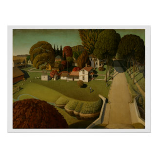 Birthplace of Herbert Hoover by Grant Wood Print