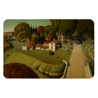 """Birthplace of Herbert Hoover"" Grant Wood Magnet"