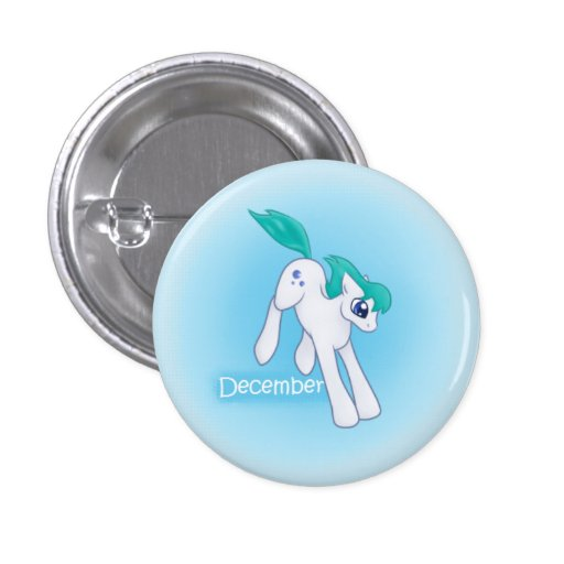 Birthstone Pony- December/Blue Topaz/Blue Zircon Pins