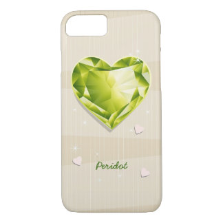 Birthstones August Peridot Olive Green Heart iPhone 8/7 Case
