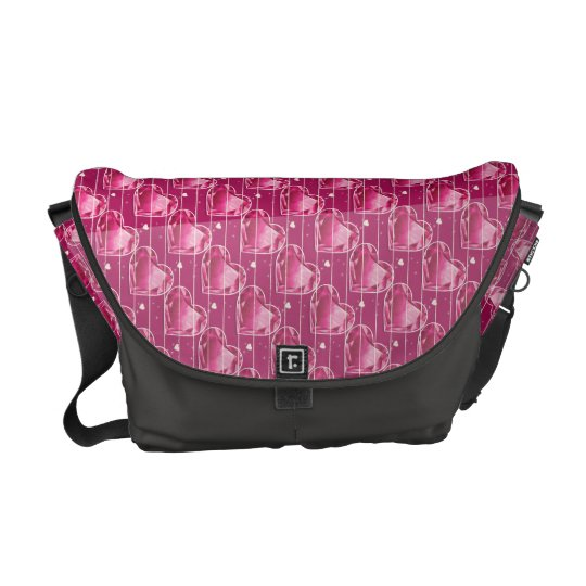 Birthstones July Ruby Red Heart Commuter Bag