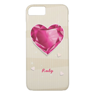 Birthstones July Ruby Red Heart iPhone 8/7 Case