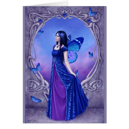 Birthstones - Sapphire Fairy Greeting Card