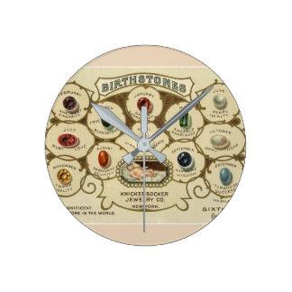 Birthstones Vintage Jewelry Store Clock