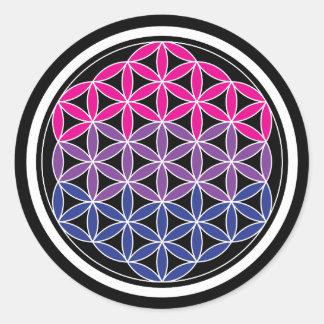 biSacred geometry Classic Round Sticker