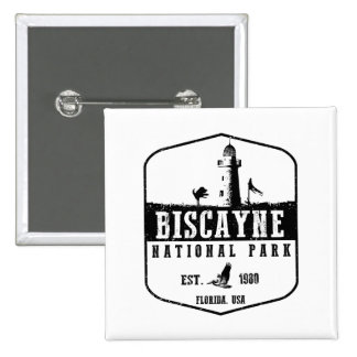 Biscayne National Park 2 Inch Square Button