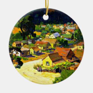 Bischoff - Cambria, a Peaceful California Village Ceramic Ornament