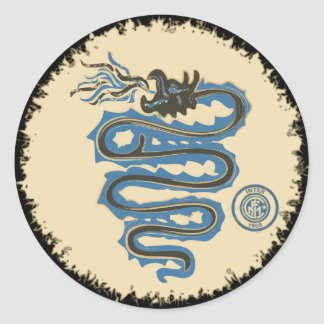 Biscione Nerazzurro, old snake sticker