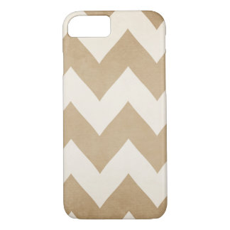 Biscotti & Cream Chevron iPhone 7 case