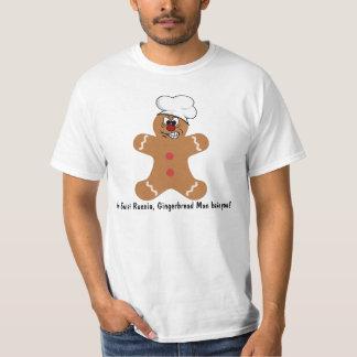 Biscuit fâché de bonhomme en pain d'épice t shirt