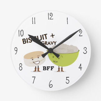 Biscuit & Gravy BFF Funny Clock