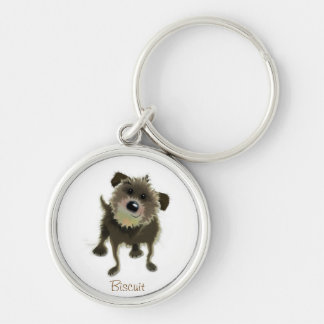 Biscuit Key ring Silver-Colored Round Keychain