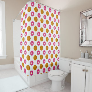 Biscuit Polka Dots Pattern Shower Curtain