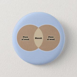 Biscuit Venn 2 Inch Round Button