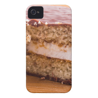 Biscuit with chocolate and a layer of milk souffle iPhone 4 Case-Mate cases