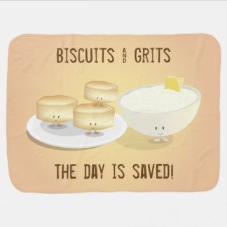 Biscuits and Grits   Baby Blanket
