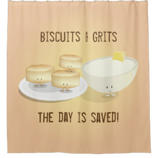 Biscuits and Grits | Shower Curtain