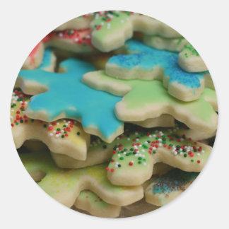 Biscuits de Noël Sticker Rond
