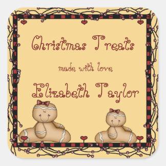 Biscuits de Noël autocollant de pain d épice de