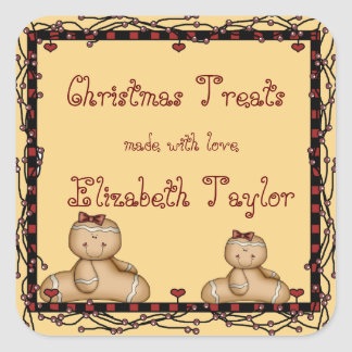 Biscuits de Noël, autocollant de pain d'épice de