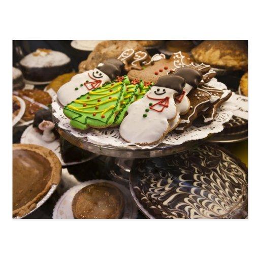 Biscuits de Noël sur l'affichage à New York City Carte Postale
