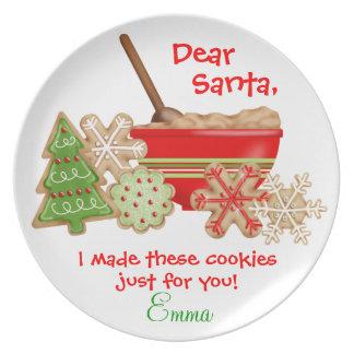 Biscuits pour le plat de Père Noël Assiette Pour Soirée