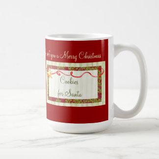 Biscuits pour Père Noël et Mme Claus Mug Blanc