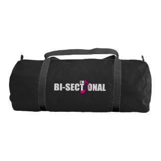 Bisectional Dark Duffel Bag