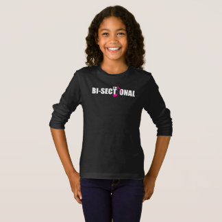 Bisectional Girl's Dark Long Sleeve T-Shirt