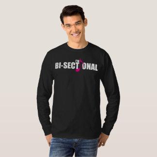 Bisectional Men's Basic Long Sleeve Dark T-Shirt