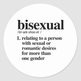Bisexual Definition - Defined LGBTQ Terms - Classic Round Sticker