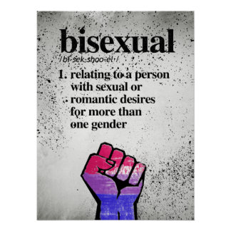 Bisexual Definition - Defined LGBTQ Terms - Poster