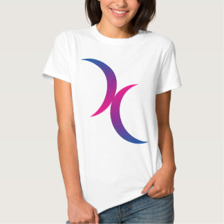 Bisexual double moons t-shirts