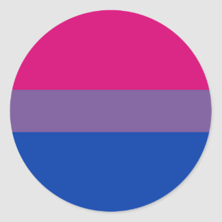 Bisexual Flag Classic Round Sticker