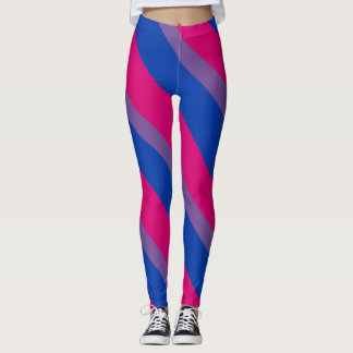 Bisexual flag leggings
