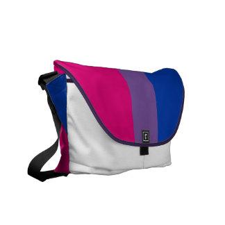 Bisexual flag messenger bag
