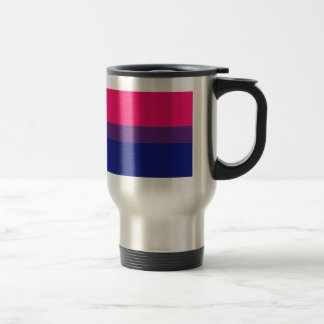 Bisexual flag travel mug