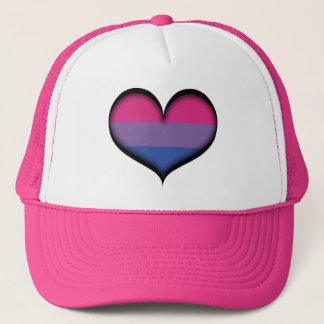 Bisexual Heart Trucker Hat