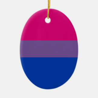 Bisexual LGBT Pride Rainbow Flag Ceramic Oval Ornament