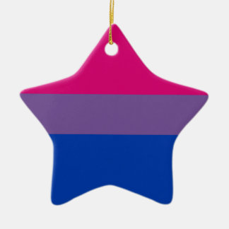 Bisexual LGBT Pride Rainbow Flag Ceramic Star Ornament