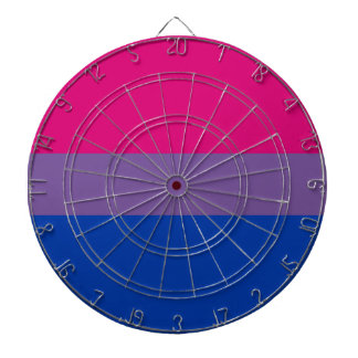 Bisexual LGBT Pride Rainbow Flag Dartboard