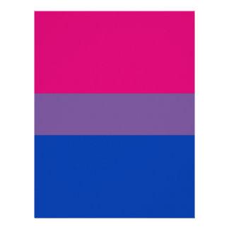 Bisexual LGBT Pride Rainbow Flag Letterhead